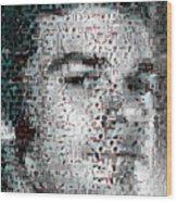 Dexter Blood Splatter Mosaic Wood Print