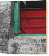 Dharamsala Window Wood Print