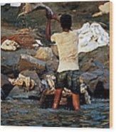Dhobi Wallah Wood Print