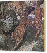 Dhole, Endangered Species Wood Print
