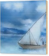 Dhow Fishing Vessel Wood Print