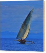 Dhow On The Indian Ocean 2 Wood Print