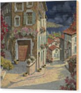 Di Notte Al Mare Wood Print