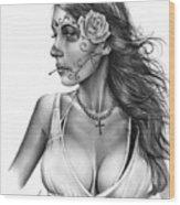 Dia De Los Muertos 1 Wood Print by Pete Tapang