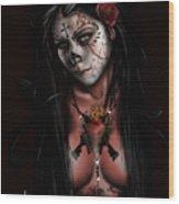 Dia De Los Muertos 3 Wood Print by Pete Tapang