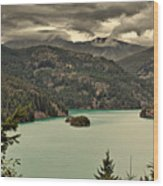 Diablo Lake - Le Grand Seigneur Of North Cascades National Park Wa Usa Wood Print