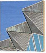 Diagonal Blue B Wood Print