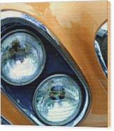 Diagonal Headlights Wood Print