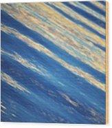 Diagonal Waters Wood Print