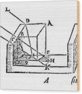 Diagram Showing Refraction, Kepler, 1611 Wood Print