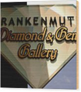 Diamond And Gem Gallery Wood Print