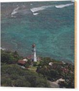Diamond Head Lighthouse I Wood Print