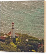 Diamond Head Lighthouse Wood Print