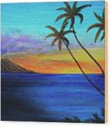 Diamond Head Sunrise #327 Wood Print