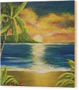 Diamond Head Sunrise #405 Wood Print
