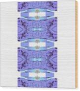 Diamonds Lilac Wood Print