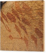Diamond Pictographs Wood Print