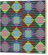 Diamond Quilt 1 Wood Print
