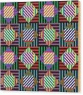 Diamond Quilt 2 Wood Print