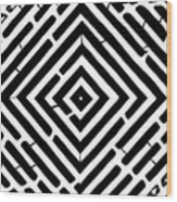 Diamond Shaped Optical Illusion Maze Wood Print