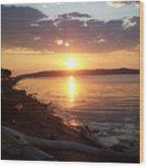Diamond Sunset Wood Print