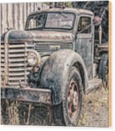 Diamond T Logging Truck Wood Print