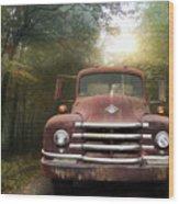 Diamond T Truck Wood Print