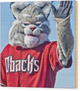 Diamondbacks Mascot Baxter Wood Print