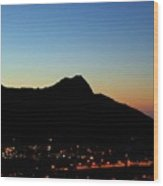 Diamondhead Sunrise Wood Print