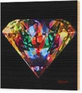 Diamonds Everywhere Wood Print