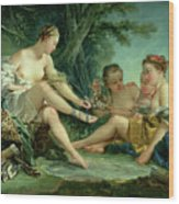 Diana After The Hunt Wood Print by Francois Boucher