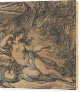 Diana And Actaeon Wood Print