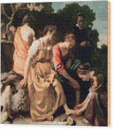 Diana And Her Companions Wood Print by Jan Vermeer