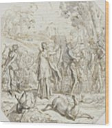 Diana And Her Nymphs Hunting Wood Print