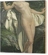 Diana At Her Bath Wood Print
