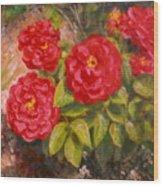Diane's Roses Wood Print