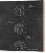 Dice Cube Patent Wood Print