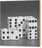 Dice Cubes II Wood Print