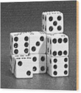 Dice Cubes IIi Wood Print by Tom Mc Nemar