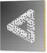 Dice Illusion Wood Print