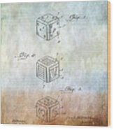 Dice Patent Wood Print