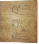 Dice Patent From 1923 Wood Print
