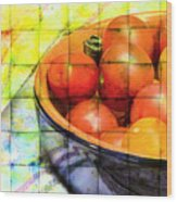 Diced Tomatoes Wood Print