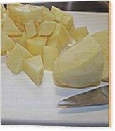 Dicing Potatoes I Wood Print