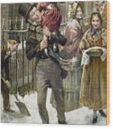 Dickens: A Christmas Carol Wood Print