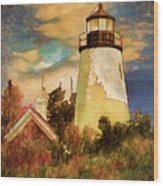 Dice Head ,castine, Maine Wood Print