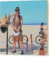 Didgeridoo Wood Print