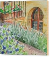 Dievole Vineyard Wood Print by Judy Swerlick
