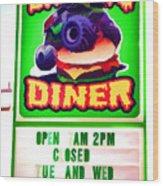 Digger's Diner Wood Print