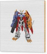 Digimon Wood Print